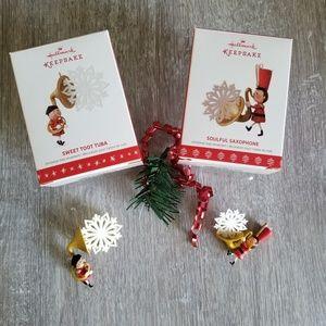 2 limited edition Hallmark ornaments